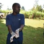 The Water Project: Shitaho Community, Andrea Kong'o Spring -  Demonstrating Handwashing Steps