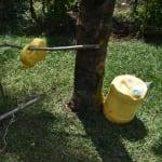 The Water Project: Nyira Community, Ondiek Spring -  Set Up Handwashing Station