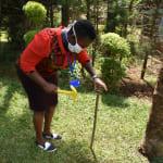 The Water Project: Nyira Community, Ondiek Spring -  Setting Up Handwashing Stand