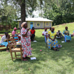 The Water Project: Ematiha Community, Ayubu Spring -  A Community Member Asking For Clarification