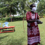 The Water Project: Ematiha Community, Ayubu Spring -  Ms Wagaka Teaches The Ten Steps Of Handwashing