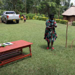 The Water Project: Ematiha Community, Ayubu Spring -  Facilitators Make A Handwashing Station