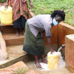 The Water Project: Hirumbi Community, Khalembi Spring -  Alice At The Water Point