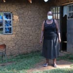 The Water Project: Mukhangu Community, Okumu Spring -  Felistus Outside Her Home