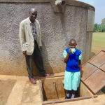 The Water Project: Ingwe Primary School -  Jackline With Teacher Mr Koikoi