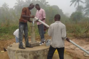 The Water Project: Newton Curve Well Repair Project -