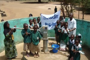 The Water Project: DC Mahera Primary School Well Rehabilitation -