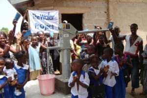 The Water Project: Rotifunk Victory Primary School and Church Well Rehabilitation -