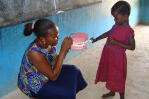 The Water Project: COGP Primary School - Sankoya Well Rehabilitation -