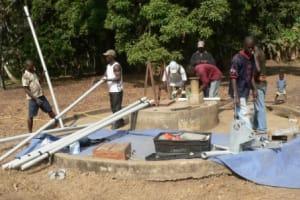 The Water Project: Tombo Bana Community Well Rehabilitation -
