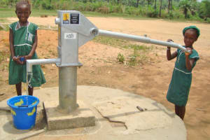 The Water Project: Huntingdon Primary School Well Rehabilitation Project -