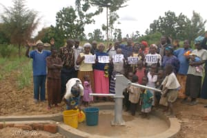 The Water Project: Eshisaba Residents Self Help Group Well Project -