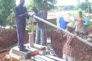The Water Project: Calaba Town Well Rehabilitation Project -