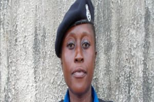 The Water Project: Tintifor, Police Barracks Well Rehabilitation -