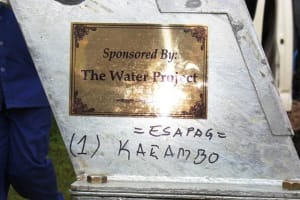 The Water Project: Espag Secondary School -