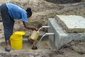 The Water Project: Sibanga Spring Catchment Project -