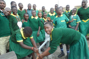 The Water Project: Ekambara Primary School Well Rehabilitation Project -
