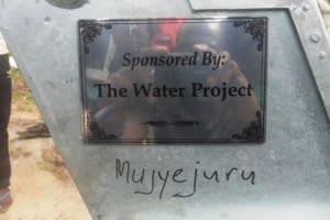 The Water Project: Mujyejuru -