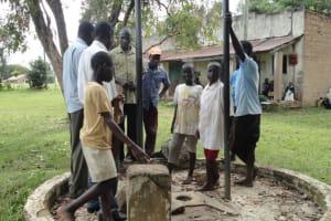 The Water Project: Kakemer Borehole Rehab -