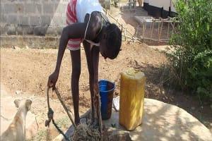 The Water Project: Lungi Magburaka Well Rehabilitation -
