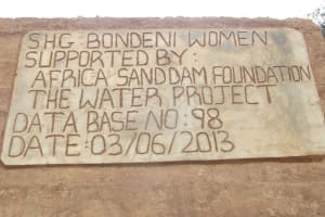 The Water Project: Bodeni Women's Group -