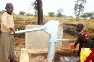 The Water Project: Mbaa Ngoka Community A -