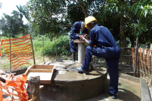 The Water Project: Bramah Town Well Rehabilitation Project -