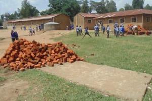 The Water Project: Mahiakalo Primary School Rainwater Harvesting Tank and Ecosan Latrine -