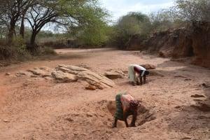 The Water Project: Kwa Mutunga Gabion Sand Dam -