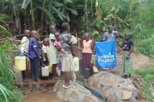 The Water Project: Mumuli Community, Marko Mutamba Mumuli Spring -