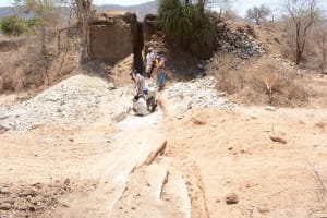 The Water Project: Twone Mbee Muselele II Self-Help Group Sand Dam Project -