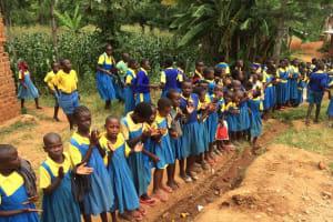 The Water Project: Embussamba Primary School Rainwater Harvesting and VIP Latrines -
