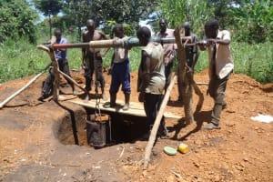 The Water Project: Kihonda Mihangaizima Hand Dug Well Project -