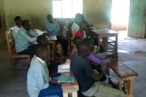 The Water Project: Esibila Primary School Rainwater Harvesting and VIP Latrine Project -