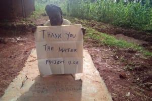 The Water Project: Ebwiranyi Community, Kabole Spring -