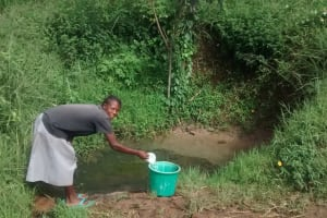 The Water Project: Namanja Community, William Katui Spring -