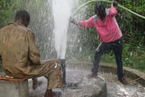 The Water Project: Mukangu 1 Well Rehabilitation Project -