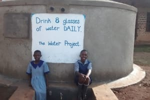 The Water Project: Shivakala Primary School Rainwater Catchment Project -