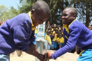 The Water Project: Lugusi Primary School Well Rehabilitation Project -