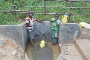 The Water Project: Ejija Community, Andrea Mutende Spring -