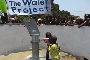 The Water Project: #10 Brima Lane Community New Well Project -