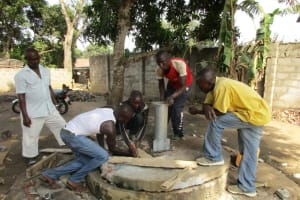 The Water Project: 22 Sesay Street, #1 Bangura Compound Well Rehabilitation Project -
