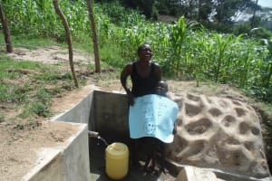 The Water Project: Elufafwa Community, Alphonce Mukoshi Spring -