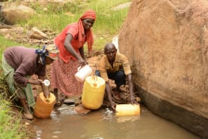 The Water Project: Kathuni Community A -  Fetching Water