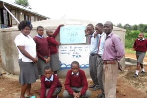 The Water Project: St. Michael Emakwale Secondary School Rainwater Catchment Project -
