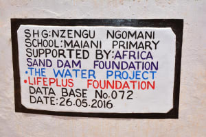 The Water Project: Maiani Primary School -