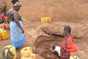 The Water Project: Kumina Wauni New Well Project -