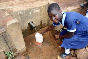 The Water Project: Shipala Primary School -  Fetching Water