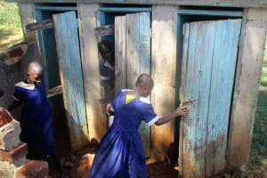The Water Project: Emmabwi Primary School -  Girls Latrines