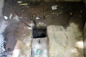The Water Project: Emmabwi Primary School -  Inside A Latrine